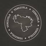 Weiße Kreidebeschaffenheits-Weinlesedichtung mit Bolivarian Stockfotos