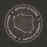 Weiße Kreidebeschaffenheits-Weinlesedichtung mit Republik von Stockfotos