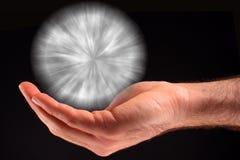 Weiße Kugel der Leuchte Stockfotos