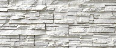 Weiße Kunststein-Wand Lizenzfreie Stockfotografie