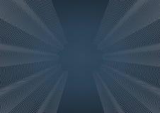 Weiße Kurvenlinie und blauer Hintergrund stock abbildung