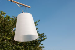 Weiße Lampe Lizenzfreies Stockfoto