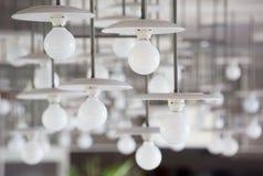 Weiße Lampen Stockfoto