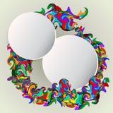 Weiße leere Ausweise und Rotation Dekoration Lizenzfreies Stockfoto
