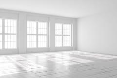 Weiße Leerstelle des Studios oder des Büros Lizenzfreies Stockbild