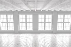 Weiße Leerstelle des Studios oder des Büros Lizenzfreie Stockbilder