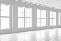 Weiße Leerstelle des Studios oder des Büros Lizenzfreie Stockfotografie