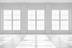 Weiße Leerstelle des Studios oder des Büros Lizenzfreies Stockfoto