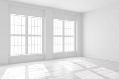 Weiße Leerstelle des Studios oder des Büros Lizenzfreie Stockfotos