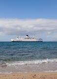 Weiße Lieferung des Fluggasts verwendbar für das Ufer Lizenzfreie Stockfotografie