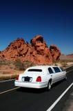 Weiße Limousine Lizenzfreies Stockfoto