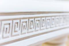 Weiße Linie mit ornavent Abstraktes Architekturinnenraumfragment Muster Stockfotos