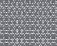 Weiße Linie Sternchen-Vereinbarung auf grauem Hintergrund Stockbild