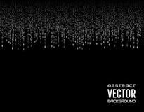 Weiße Linien des abstrakten Schlages des Hintergrundes festlichen komischen vertikalen auf schwarzem Hintergrund Vektorbild, Abbi Lizenzfreies Stockbild