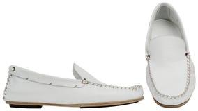 Weiße männliche Schuhe Stockfoto