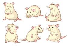 Weiße Mäuse lizenzfreie abbildung