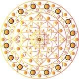 Weiße Mandala Lizenzfreies Stockfoto