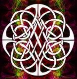 Weiße Mandala auf einem abstrakten Hintergrund vektor abbildung