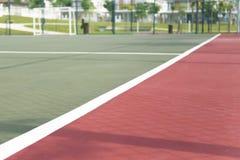 Weiße Markierung für futsal Gericht Lizenzfreies Stockfoto