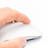 Weiße Maus und Hand Lizenzfreie Stockfotografie