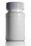 Weiße medizinische Plastikflasche stock abbildung