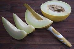 Weiße Melone geschnitten Lizenzfreie Stockfotografie