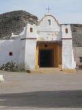 Weiße mexikanische Kirchengebäude Lizenzfreies Stockfoto