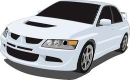 Weiße Mitsubishi-Entwicklung Lizenzfreie Stockbilder