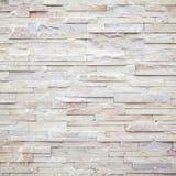 Weiße moderne Steinbacksteinmauer Stockbild