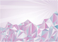 Weiße montains. Vektorabbildung Stockbilder