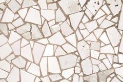Weiße Mosaikfliesen Stockfotografie