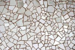 Weiße Mosaikfliesen Stockfotos