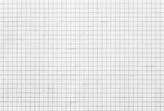 Weiße Mosaikfliesen Stockbild