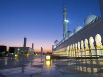 Weiße Moschee Stockfoto