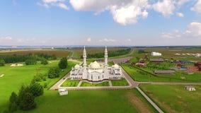 Weiße Moschee in Bolgar stock footage