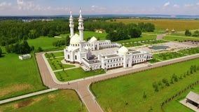 Weiße Moschee in Bolgar stock video footage