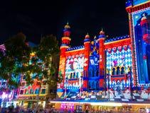 Weiße Nachtkulturelles Festival im Jahre 2015, Melbourne, Australien Stockbild