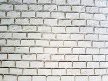Weiße nebelhafte Backsteinmauer für Hintergrund Stockfotografie