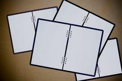 Weiße Notizbücher Stockfotografie