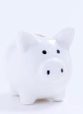 Weiße Piggy Querneigung Lizenzfreie Stockbilder