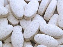 Weiße Pillen Lizenzfreies Stockbild