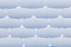 Weiße Pillen Stockfoto