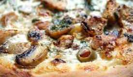 Weiße Pizza Lizenzfreie Stockfotografie