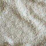 Weiße Plüsch-Decken-Beschaffenheit Lizenzfreie Stockfotos