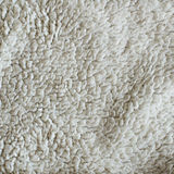 Weiße Plüsch-Decken-Beschaffenheit Stockfoto