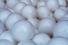 Weiße Plastikbälle Hintergrund, Beschaffenheit Stockbild