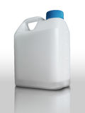 Weiße Plastikgallone Stockbild