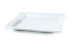 Weiße Platte Stockbild