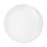 Weiße Platte Stockfoto
