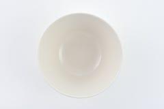 Weiße Platte auf weißem Hintergrund Stockbilder